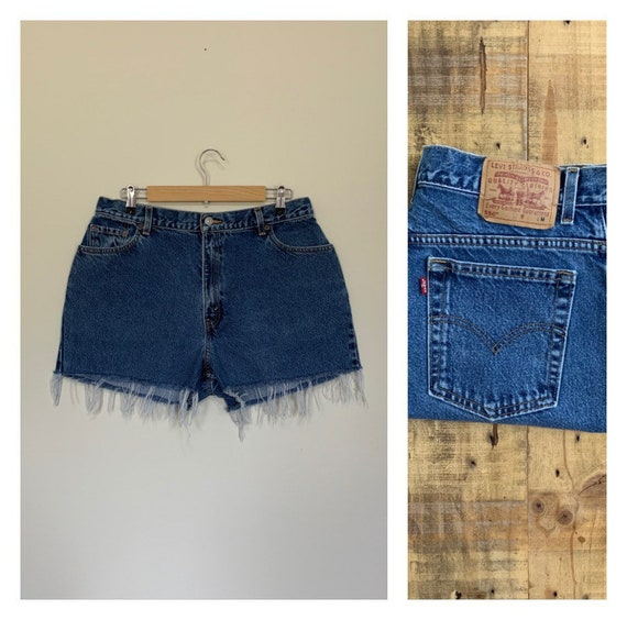 "34"" Levis High Waisted Shorts Denim / Levis Shorts"