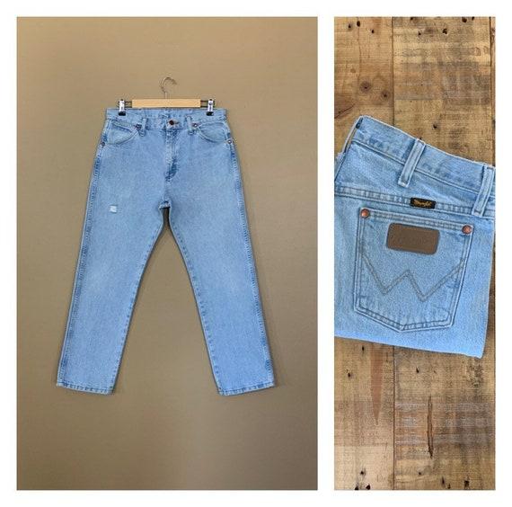 "32""/33"" Wrangler High Waisted Jeans Light Wash / 9"
