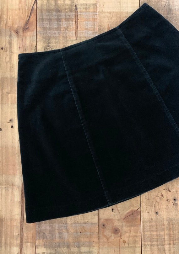 """25"""" Black Guess Skirt High Waisted / 90's Guess V… - image 9"""