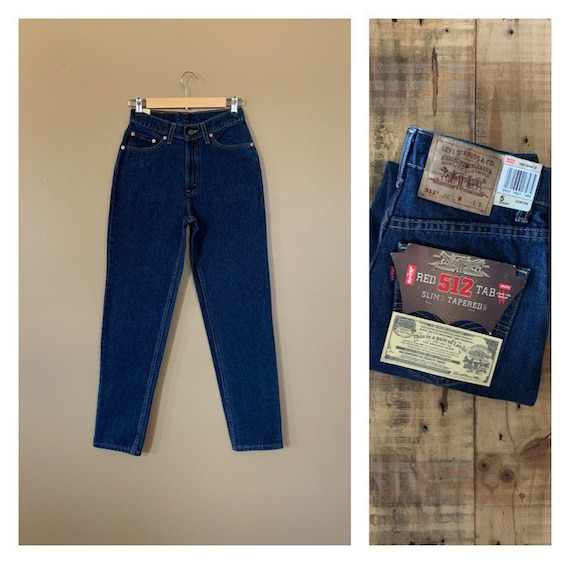 """26"""" Levis 512 High Waisted Jeans Slim Fit / 90s Je"""