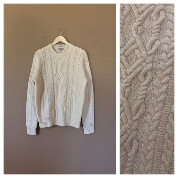 90s Oversized Wool Sweater / Vintage Wool Sweater