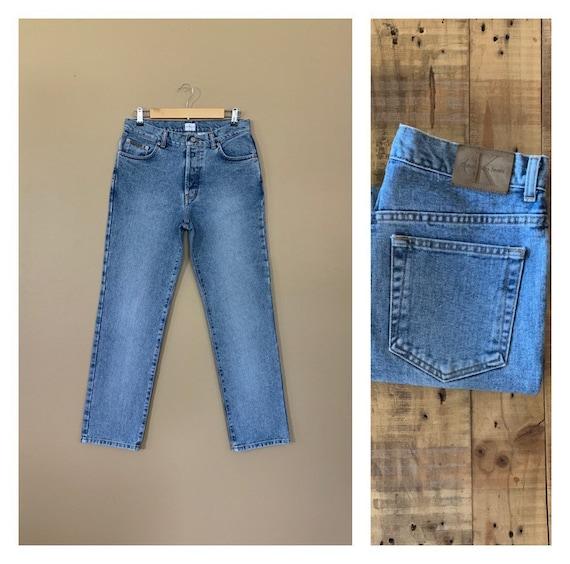 "32"" Calvin Klein Jeans Button Fly High Waisted / 9"