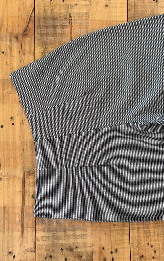 90's Large High Waisted Pants Plaid Tartan / Blac… - image 5