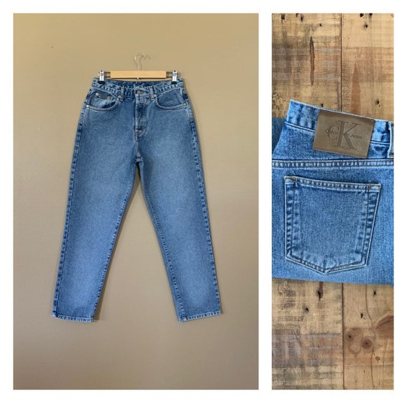 "30"" Calvin Klein Jeans Button Fly High Waisted / 9"