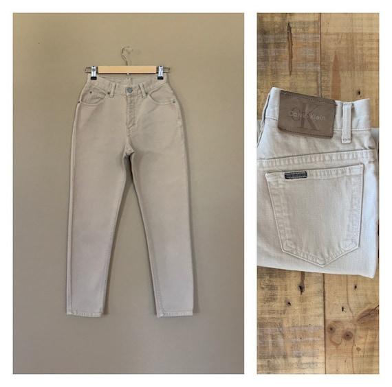 "26"" Tan Calvin Klein Jeans High Waisted / 90's Hig"