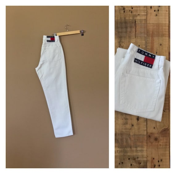 """27"""" White Tommy Hilfiger Jeans / High Waisted Jean"""