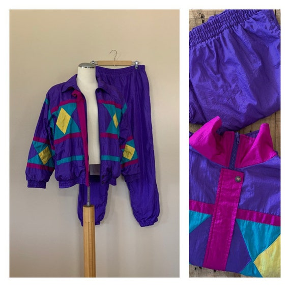 90's Windbreaker Suit Track Suit Large / 90's Wind
