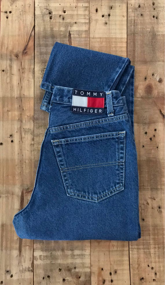 "27"" Tommy Hilfiger High Waisted Jeans / 90s Tommy… - image 5"