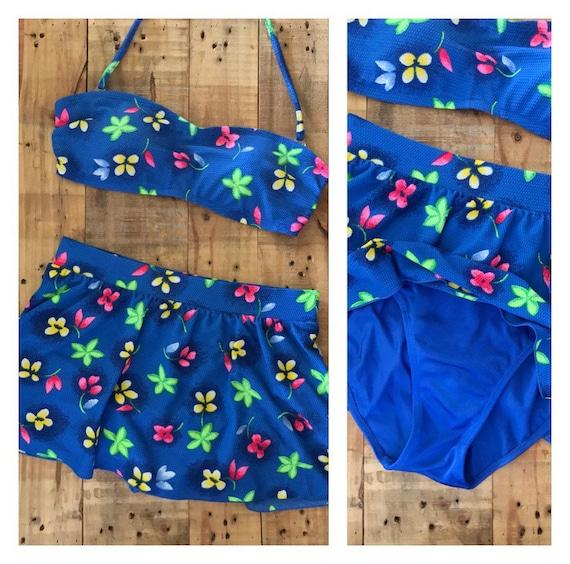 Vintage Bikini High Waist Skirted Bikini / Bikini