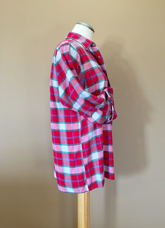 Flannel Shirt / Oversized Grunge Flannel / 90s Fl… - image 4