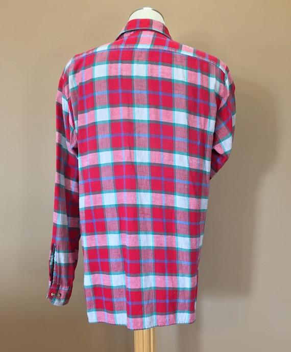 Flannel Shirt / Oversized Grunge Flannel / 90s Fl… - image 5