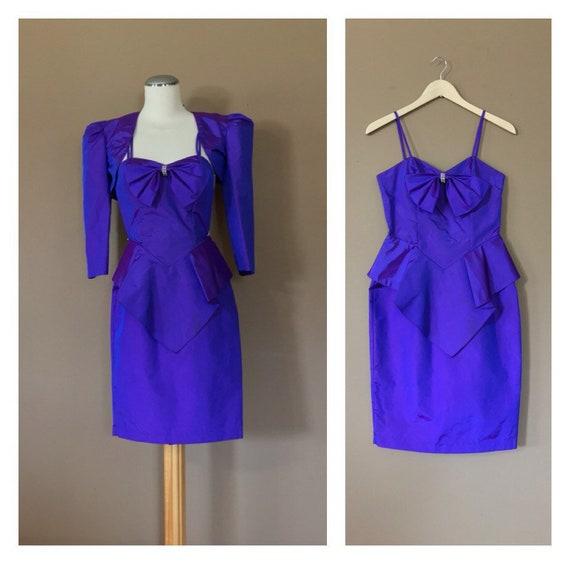 80s Prom Dress 90s Prom Dress / Purple Prom Dress