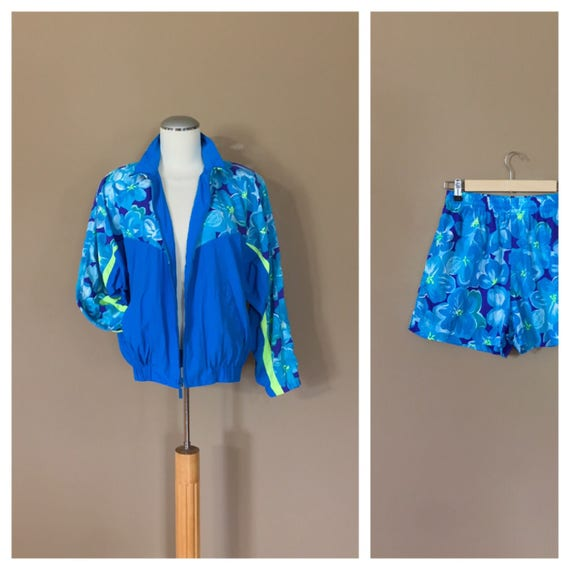 90s Windbreaker Suit Womens / 90s Windbreaker / 80