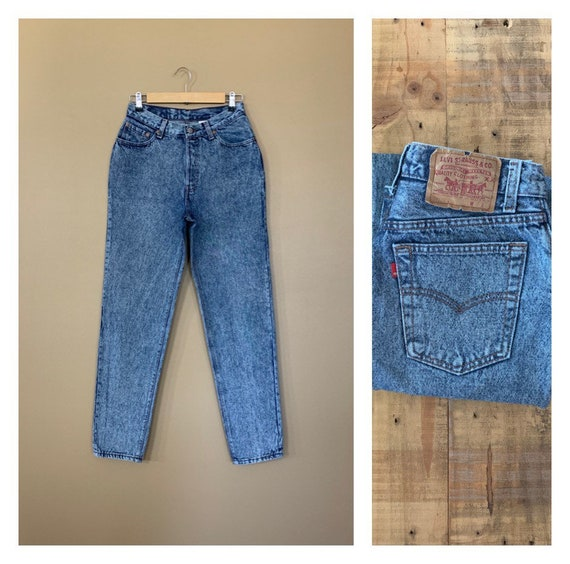 """27""""/28"""" Levis 501 Jeans High Waisted Button Fly /"""