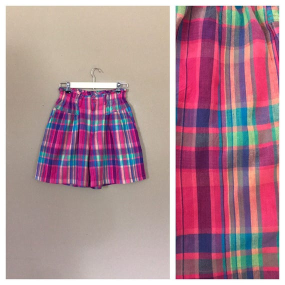 90's Cotton Shorts High Waisted / 90s Cotton Short