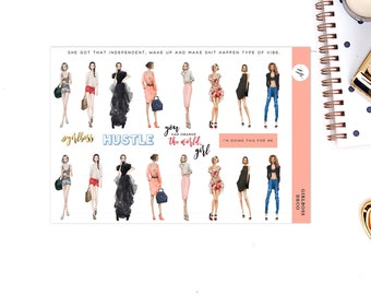 GIRLBOSS Deco Stickers || for Erin Condren Life Planner || Planner Stickers || Two Dollar Tuesday