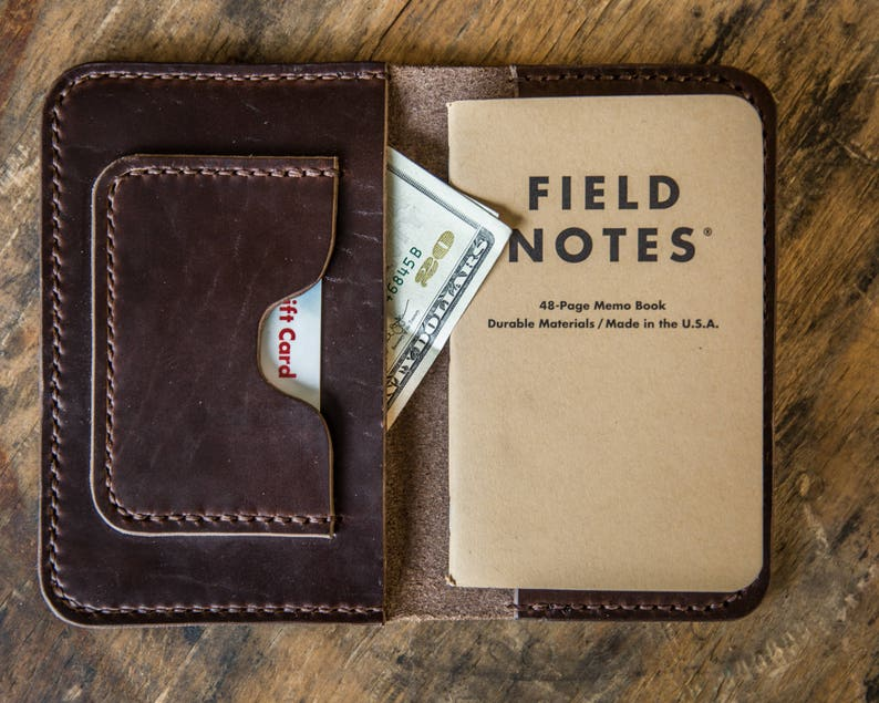 Fathers day Gift Passport Wallet Notebook Wallet Field Notes Wallet Mens Leather Waller Leather Passport Wallet Horween Leather Wallet