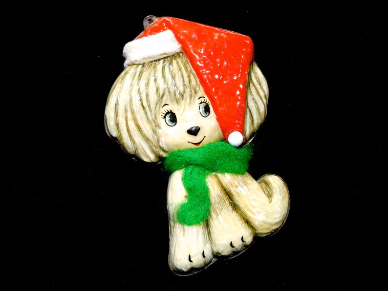 Made in Mexico Signed AISA 6 Mexico Aisa Dog Christmas Ornaments SKU 15-C1-00007100 VINTAGE: 1970/'s Plastic Dog