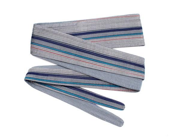 Boho Belt SKU 1-OS9-00008278 Deadstock VINTAGE: 1970/'s New Old Sock Zodiac India Silk Reversible Obi Belt Fabric Belt