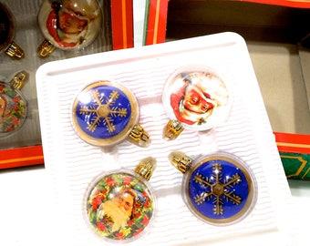 VINTAGE: 2 Boxes of Unbreakable Plastic Christmas Ornaments - Trim a Home Ornament - Kids Room - Nursery - SKU 25-D-00010549