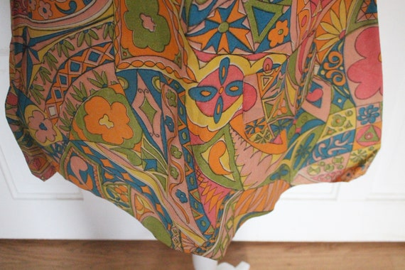 Vintage 1960's Paper Dress - RARE Sleeveless Colo… - image 2