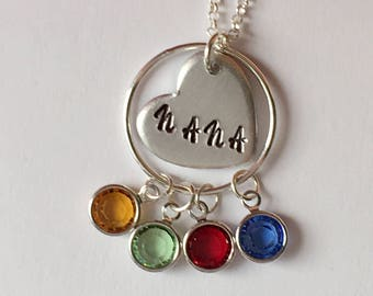Grandmother Gift. Mother Necklace. Grandmother Necklace.