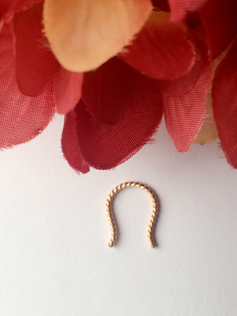 Rose Gold Septum Ring. Septum Retainer