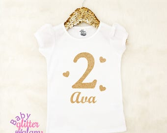 Girl Second Birthday Shirt, Second Birthday Outfit, Second Birthday Cake Smash, 2nd Birthday Girl Clothes Outfit