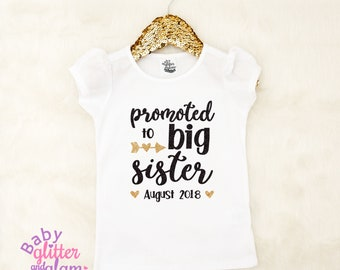 Big Sister Shirt, Pregnancy Announcement Shirt, Big Sister Announcement, Promoted to Big Sister, I'm Going to be a Big Sister