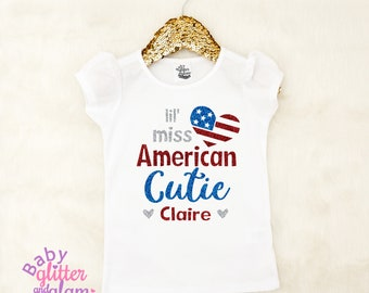 Girl Fourth of July Shirt, 4th of July Shirt, Girl 4th of July, 'Merica, Miss Fireworks, Little Miss America, All American Girl, Happy 4th