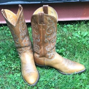 Vintage heren Rudel krokodil lederen Cowboy Western laarzen