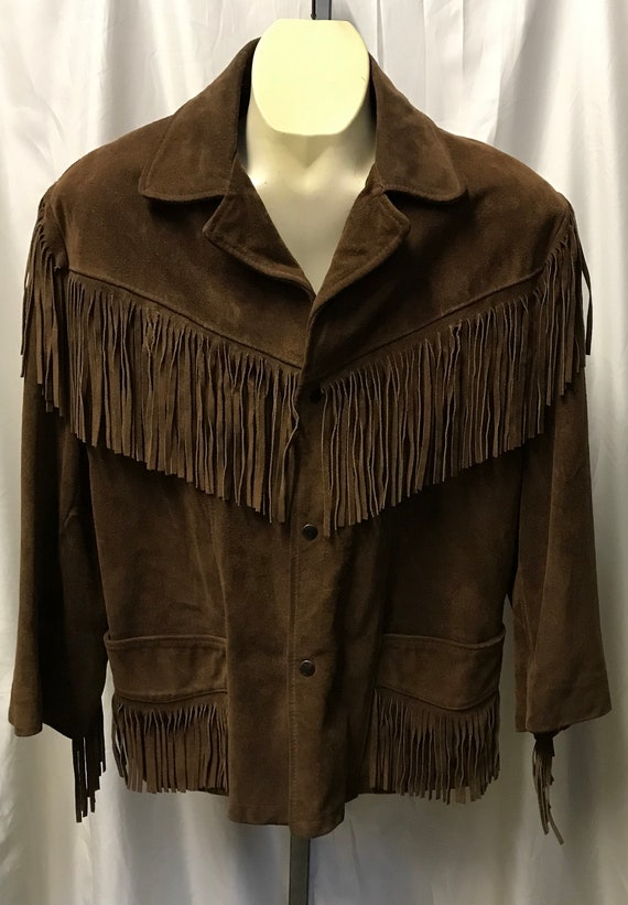 Vintage Excelled Suede with Fringe Western Jacket
