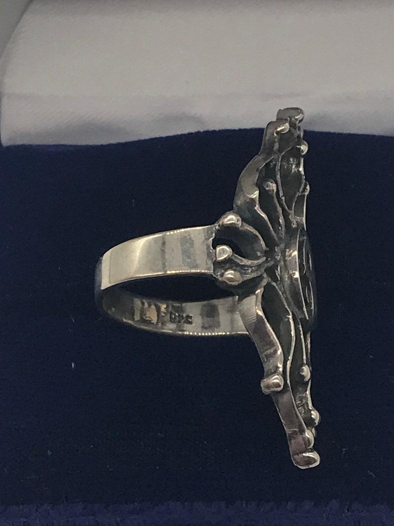 Yin and Yang Silver Ring Size 8