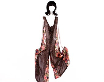 98dc8d83e3f Deadstock VINTAGE  1980 s - ZASHI Sheer Transparent Rayon Jumpsuit - One  Piece Romper - SKU 24-00014888