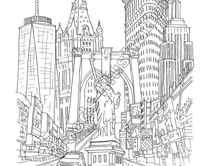 "18""x24"" New York City City Collage"
