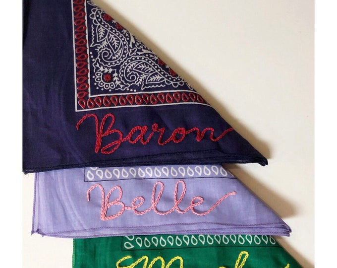 Personalized Hand Stitched Bandana