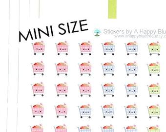 MINI Happy Shopping Cart Grocery Reminder Kawaii Personal Planner Stickers Erin Condren Kikkik Midori Notebook A5 Funny Cute Tiny