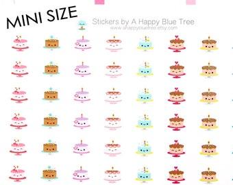 MINI Happy Party Cakes Tracker Reminder Erin Condren Life Planner FiloFax Personal Mambi Midori Kawaii Kikkik Cute Funny Birthday