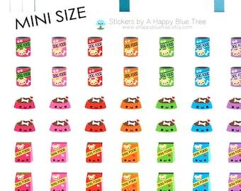 MINI Happy Dog Food Reminder Kawaii Stickers for Erin Condren planner ECLP Personal A5 Mambi Kikkik Midori Plum Funny Cute Puppy