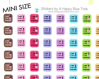 Happy MINI Manicure/Pedicure Nail Appointment Reminder Tracker Cute Kawaii Planner Stickers Erin Condren Life Mambi Personal Funny Polish