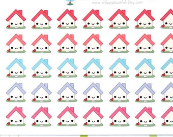 Happy Home Payment Rent Monthly Reminder Tracker Cute Kawaii Planner Stickers Erin Condren Midori Calendar Funny Mortgage House Loan Bill