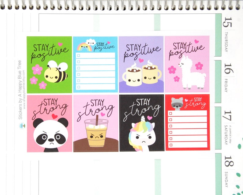 Stay Positive/Stay Strong Full Box Reminder Cute Kawaii image 0