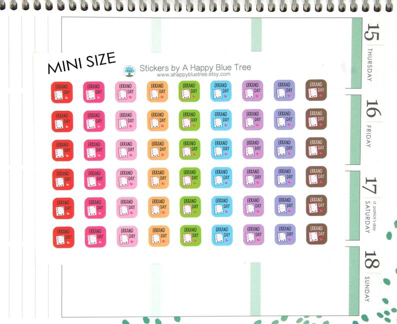 MINI Happy Errand Day Square Reminder Tracker Cute Kawaii image 0