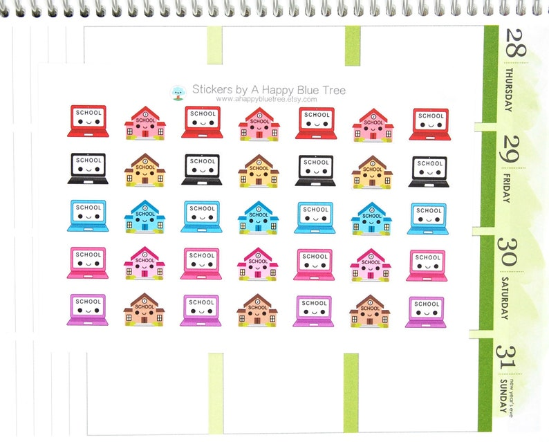 Happy Blended Learning School Tracker Reminder Sticker Erin image 0