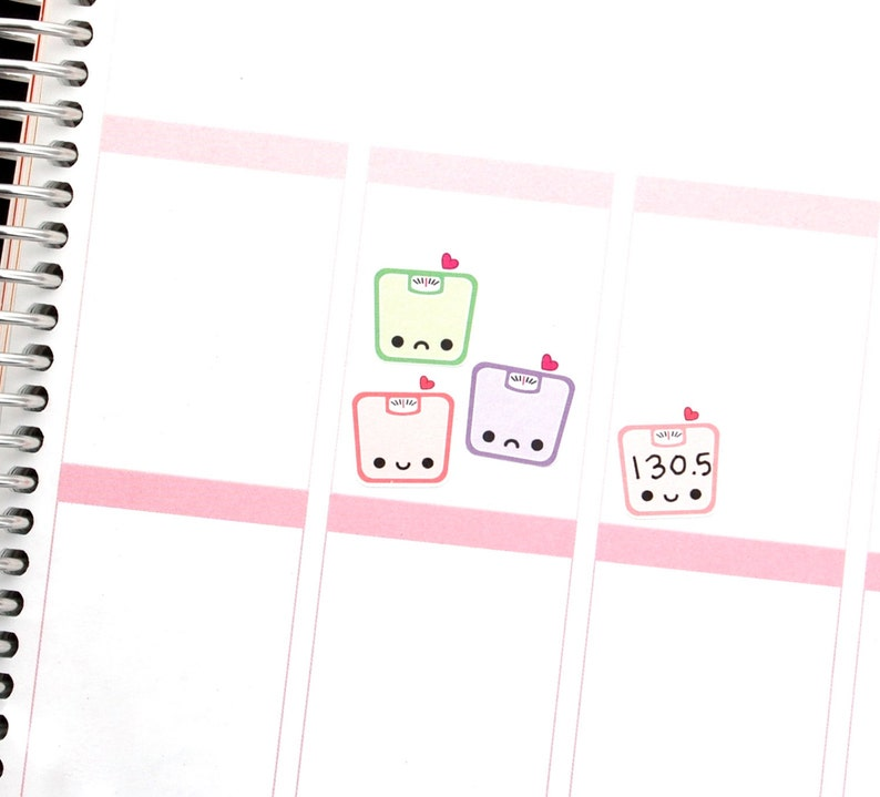 Happy or Sad Scale Reminder Tracker Cute Kawaii Planner image 0