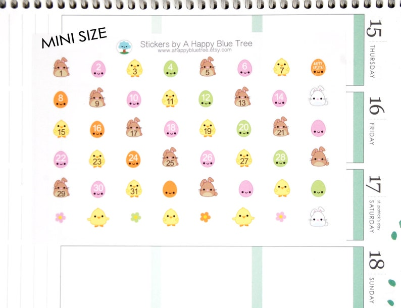 Tiny Happy Chicks Bunnies & Eggs Monthly Date Dots Covers Erin image 0