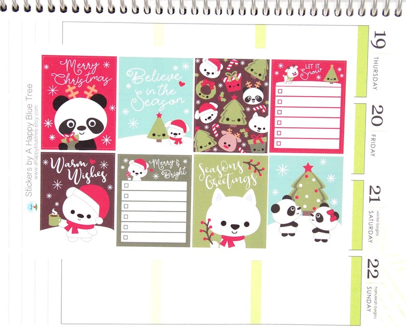 Happy Christmas Friends Full Box Themed Stickers VERTICAL image 0
