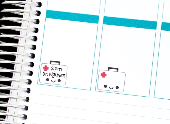 Medical,Medical Tools Planner Stickers Erin Condren Doctor Appointment S297