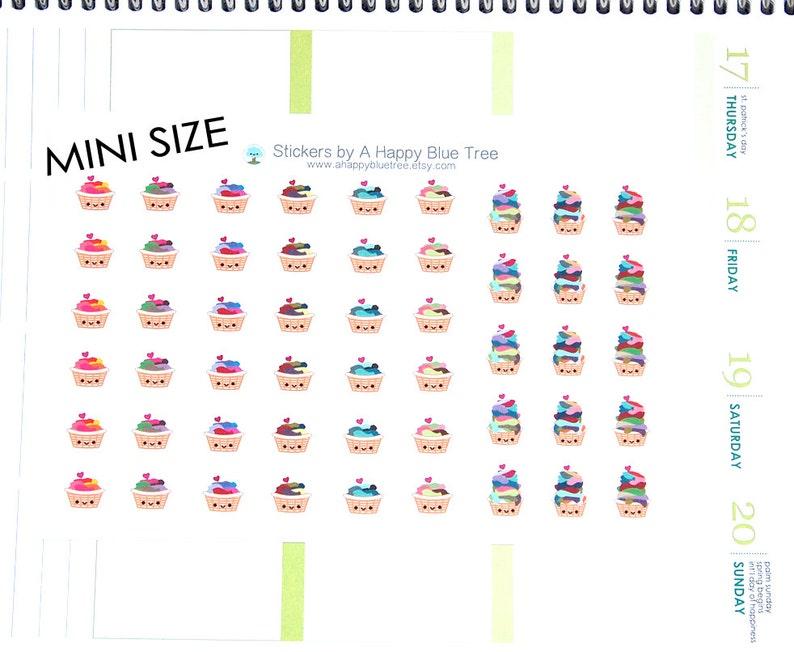 MINI Sad or Happy Laundry Basket Reminder Kawaii Stickers image 1