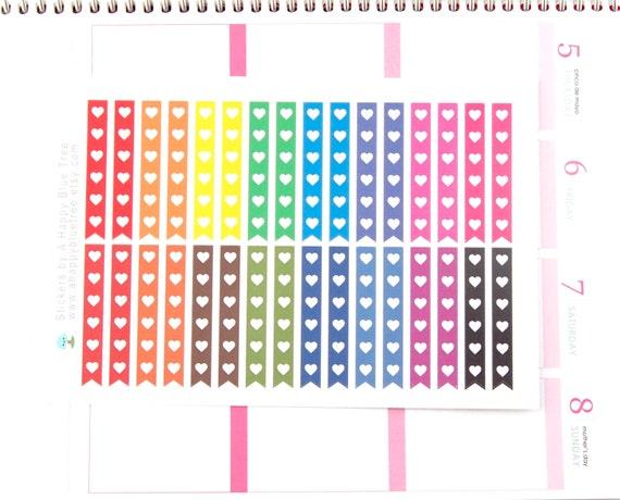 Erin Condren Colorful Checklist flags Planner Sticker Agenda Happy Planner Calendar